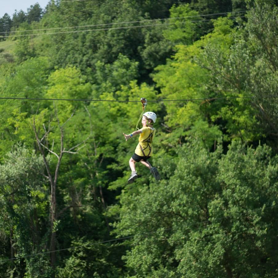 Zipline: ``il volo del falco``