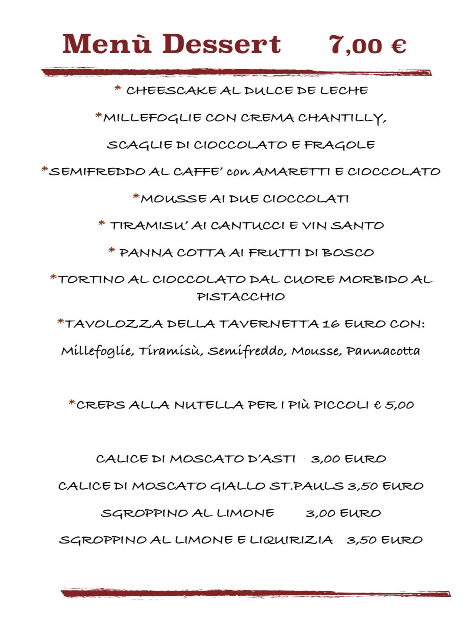 Menù Dessert