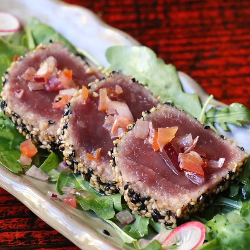 sashimi salmone scottato flambè