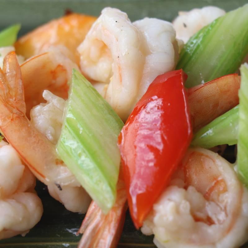 Z1 gamberetti saltati con verdure 炒虾仁