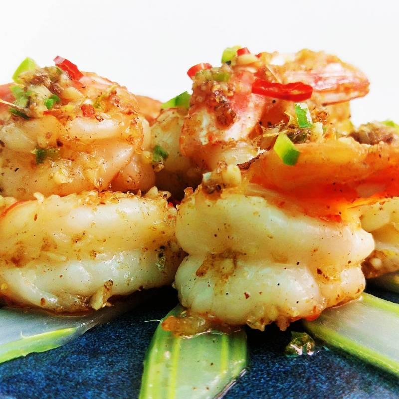 Z2 gamberetti fritti in mix di spezie 椒盐虾