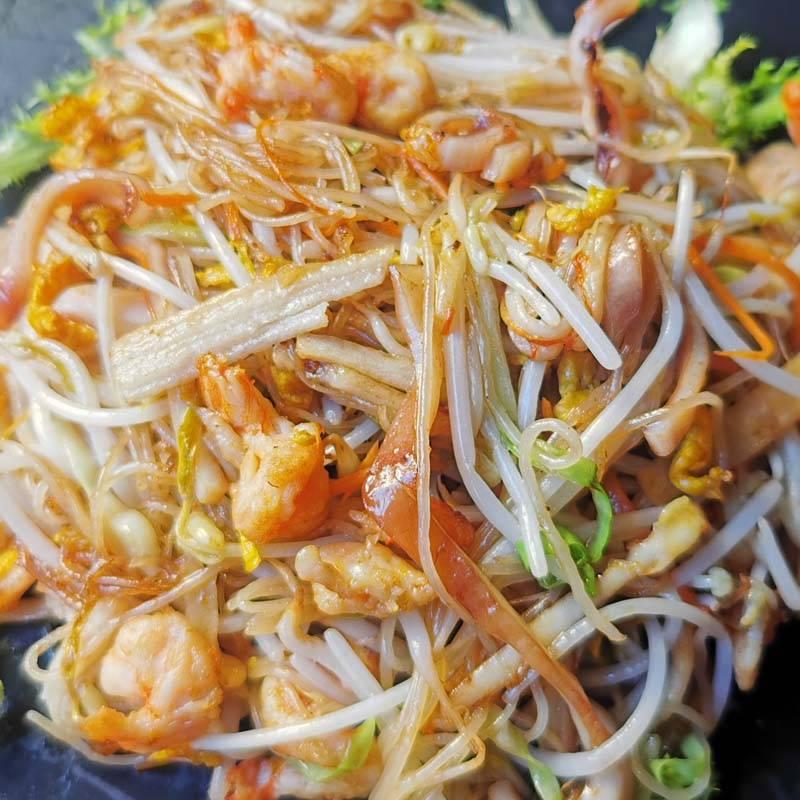 P7 spaghetti di riso saltati con frutti di mare 海鲜粉干
