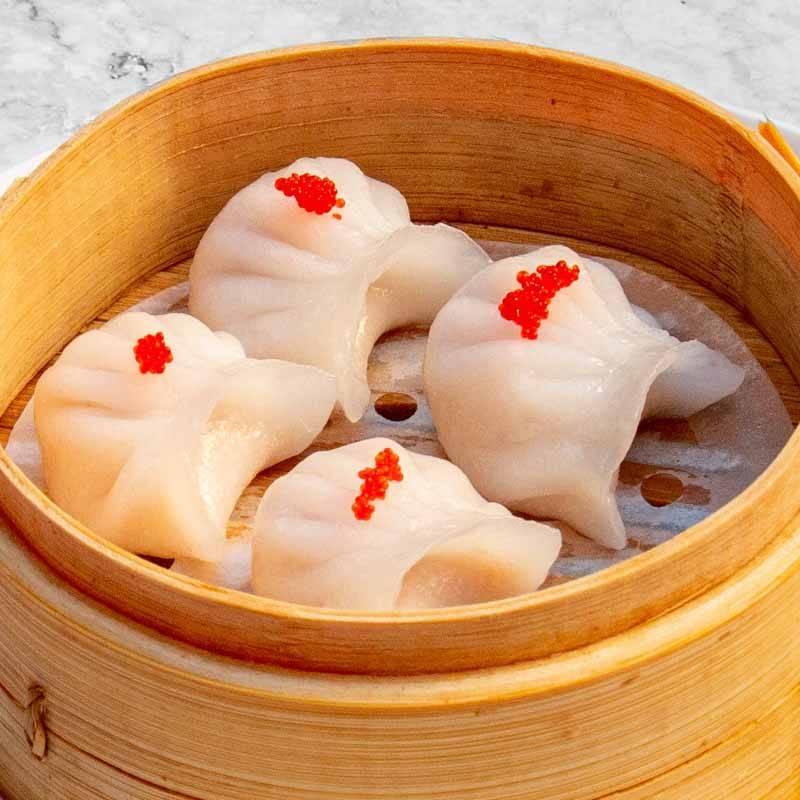 R7 ravioli di giada con gamberi 4pz 虾饺