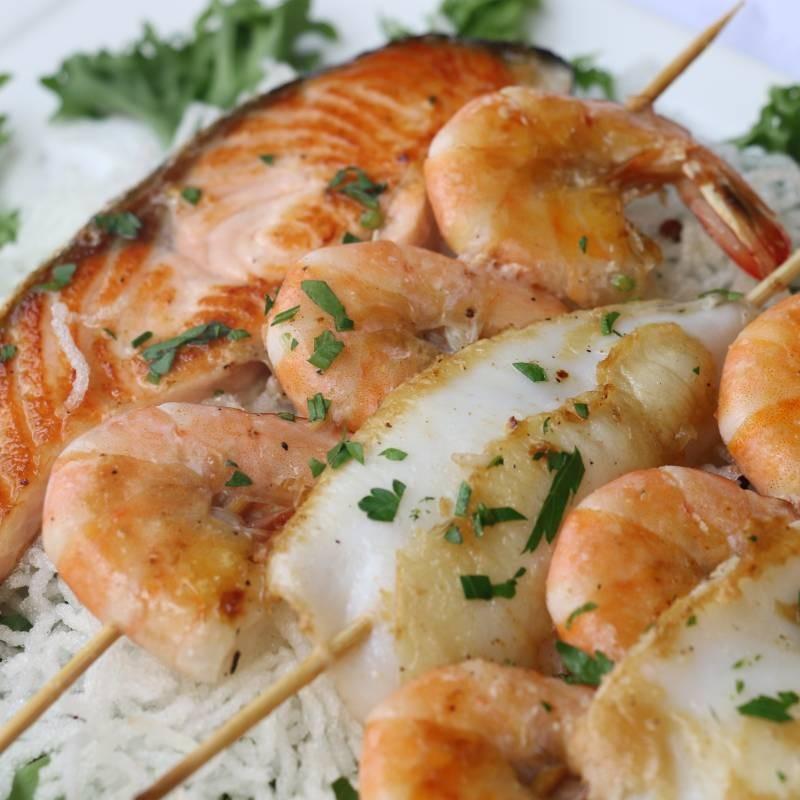 Z7 grigliata mista di pesce pranzo