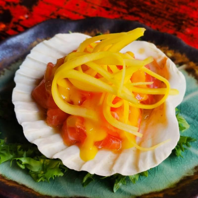 T28. Tartare Salmone e mango   ( solo cena )