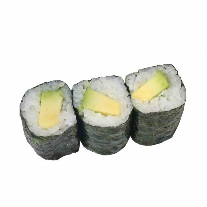 10. avocado maki 3 pz