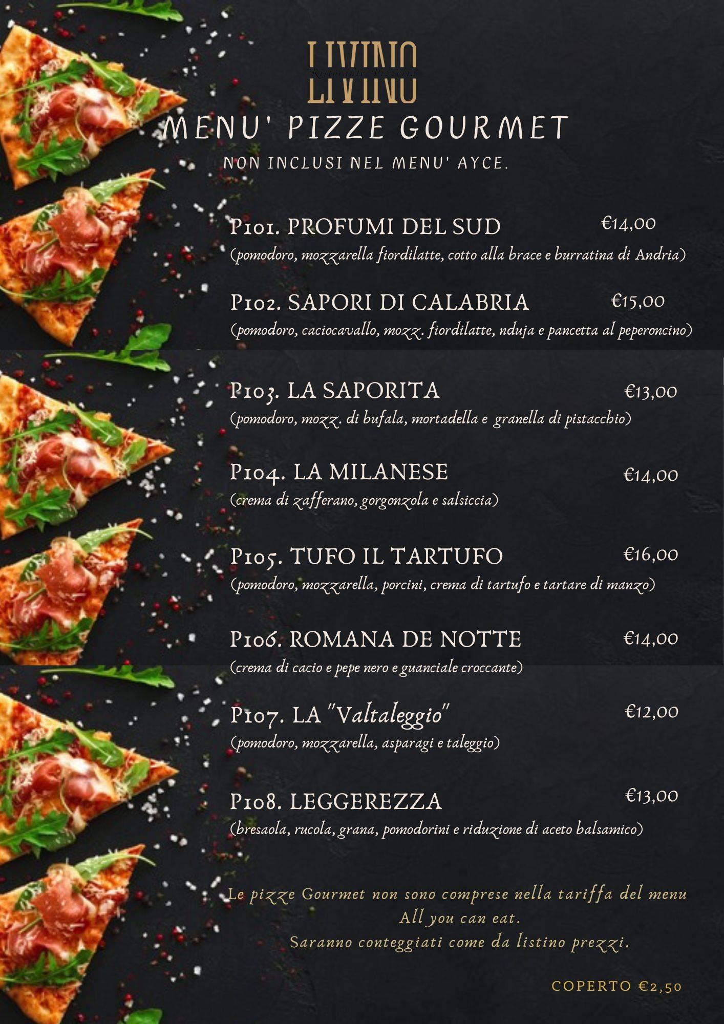 Menu Gourmet Cucina e Pizza