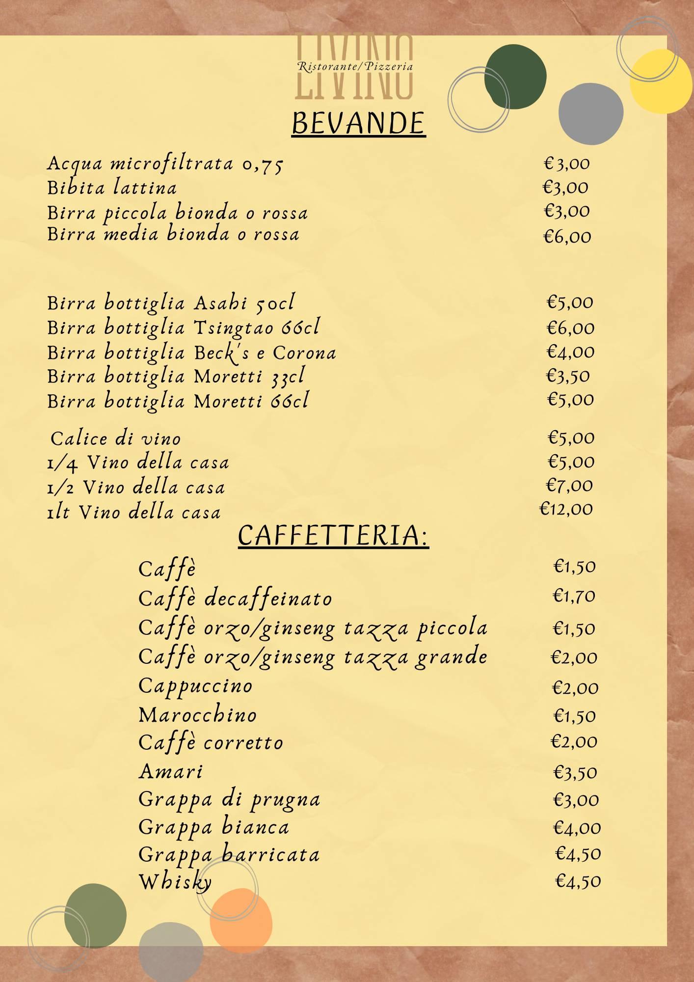 Bevande e Carta dei vini