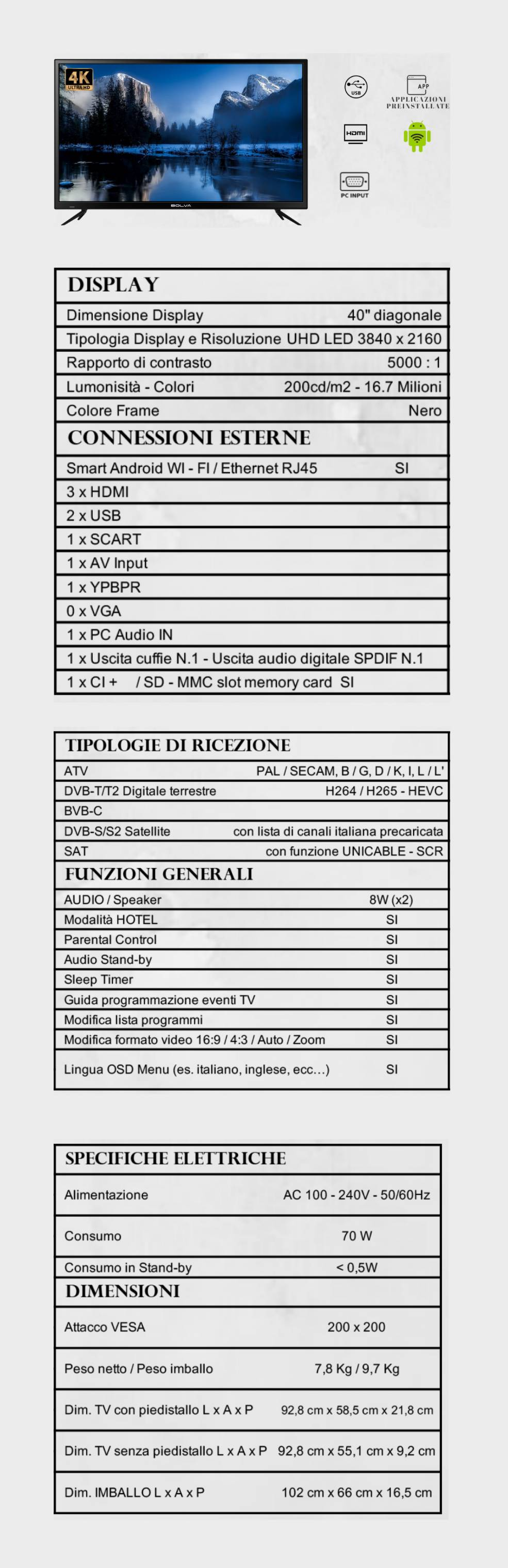 TV BOLVA 40'' S-4098
