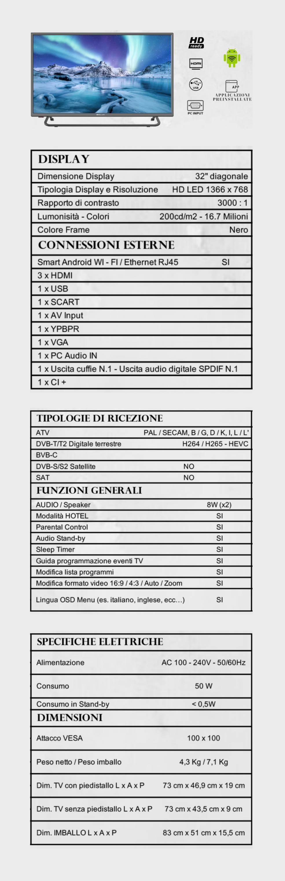 TV BOLVA 32'' S-3288