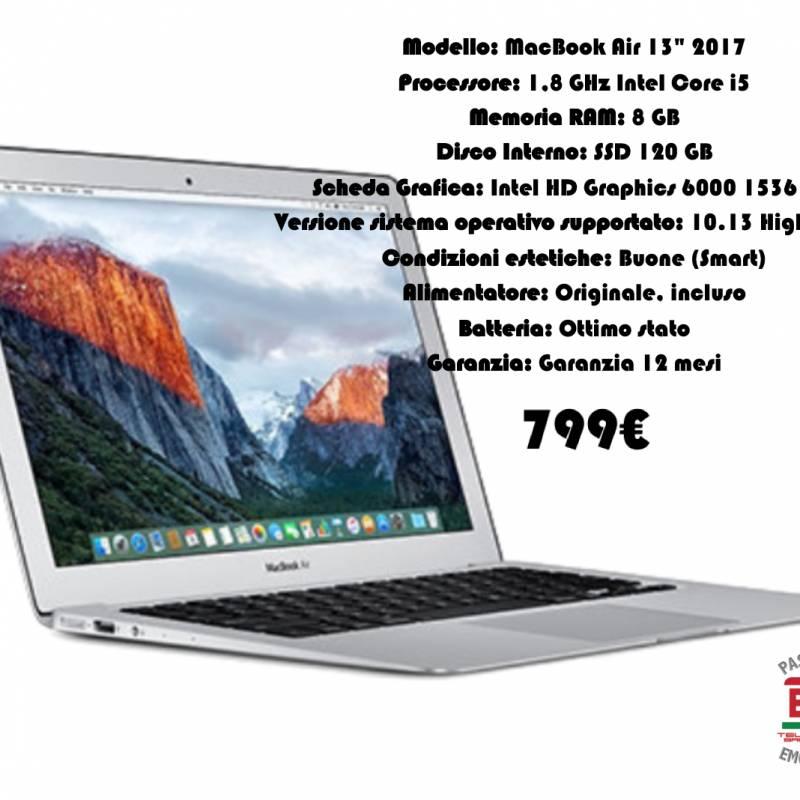 Mac Book Air  mid 2017 Certificato garantito 12 mesi Ricondizionato