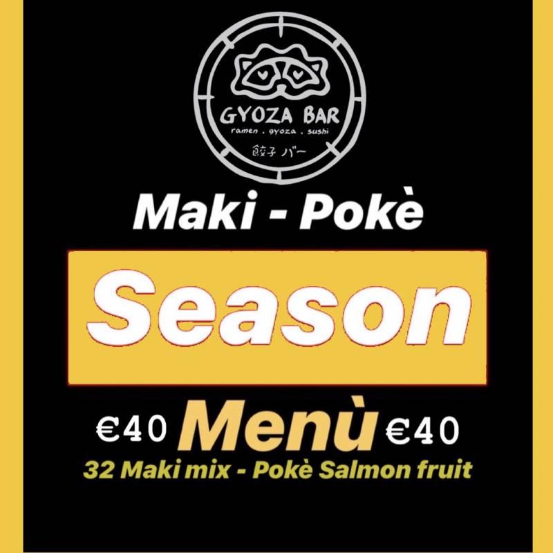 Season 32 rolls + poke bowl