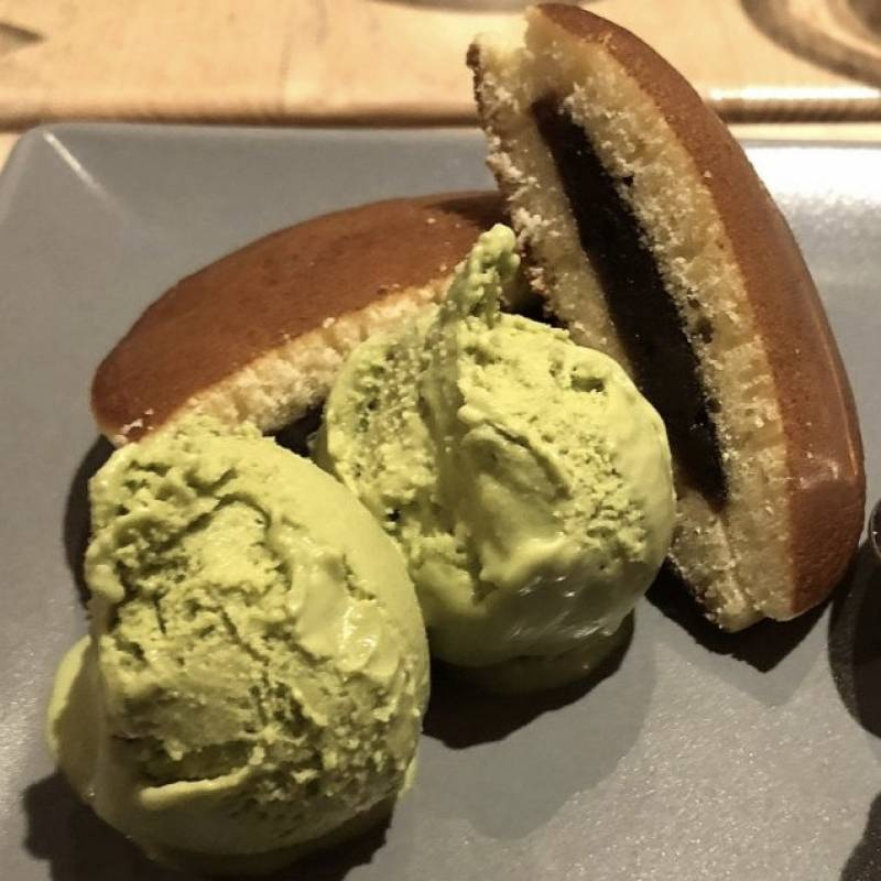 Dorayaki e gelato te verde