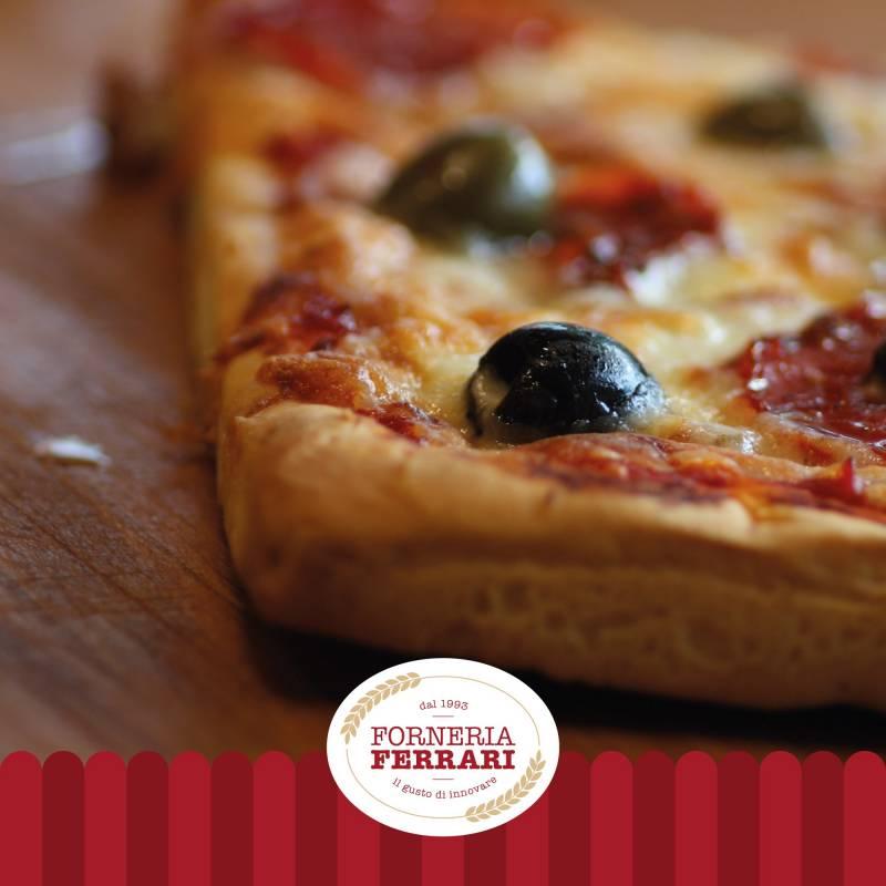 Trancio pizza prosciutto e funghi