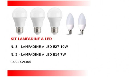 Kit Lampadine a led per la casa