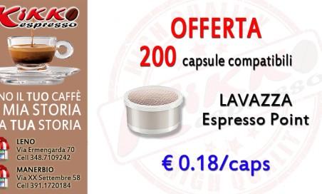 200 Lavazza Espresso Point compatibili