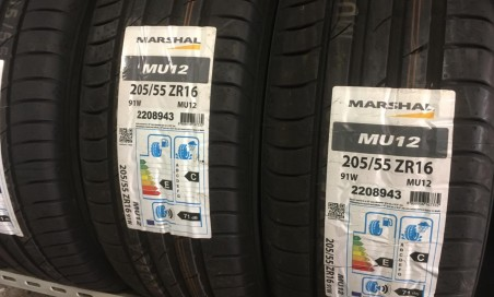 2 gomme marshal 205/55 zr16 nuove