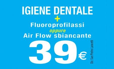 Air flow sbiancante denti + Igiene orale